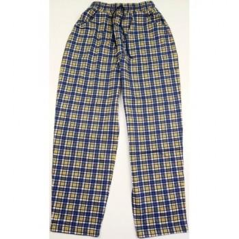 Kék-sárga kockás pizsamanadrág (152)