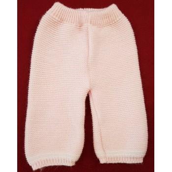 Kötött rózsaszín nadrág (62-68)