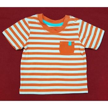 Narancssárga-fehér csíkos felső (62-68)