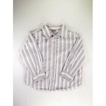 Kék-rózsaszín csíkos ing