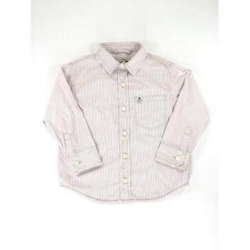 Rózsaszín-bordó csíkos ing