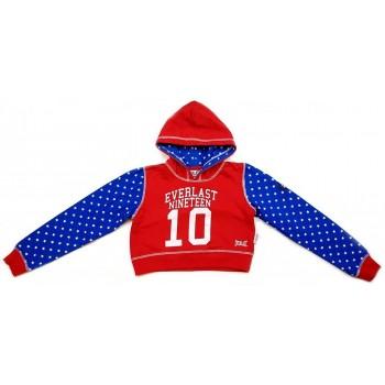 Csillagos piros-kék pulóver (128)