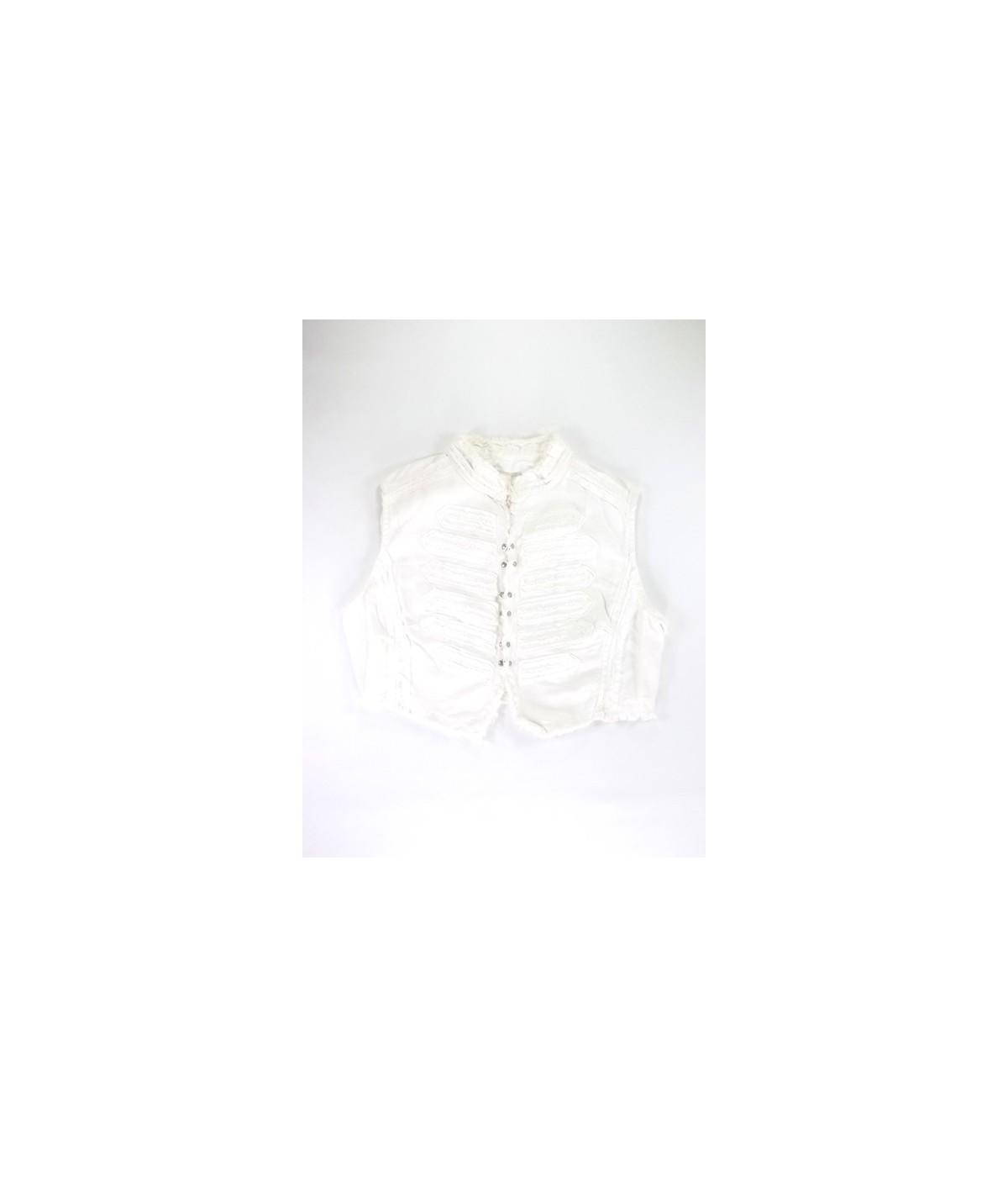 fec0e005de Fehér rojtos mellény (140). Loading zoom
