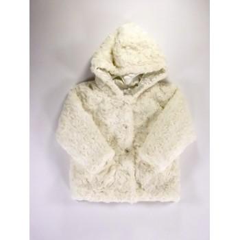 Törtfehér műszőrme-kabát