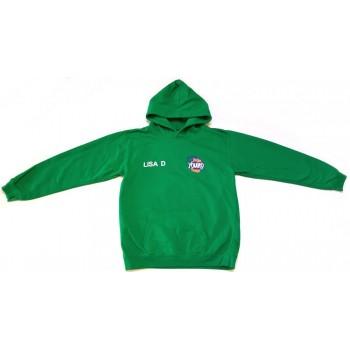 Feliratos zöld pulóver (158)