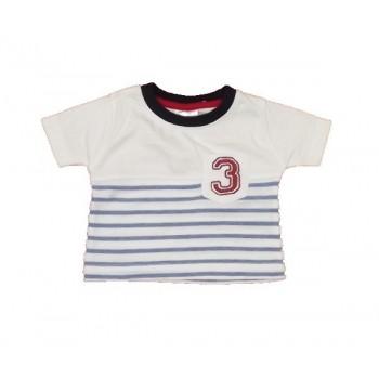 Kék-fehér 3-as póló