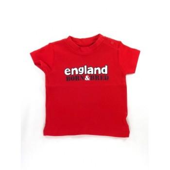 Piros England feliratos póló