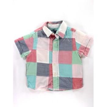 Nagy-kockás rövid ujjú ing