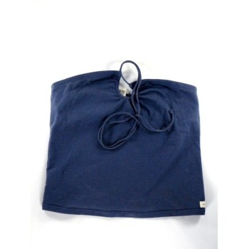 Kék nyakbakötős top