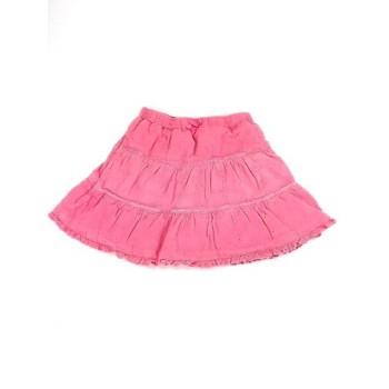 Rózsaszín hímzett-csipkés szoknya