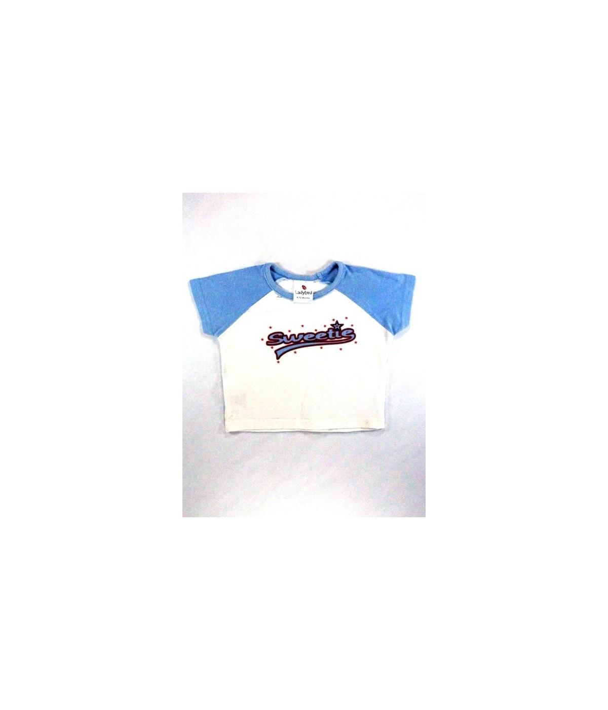 7e91f6df65 Sweetie kék-fehér póló