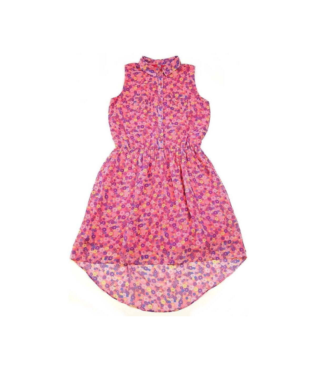 61bbea81ec Tarka virágos rózsaszín ruha (158) - Ruhacuka