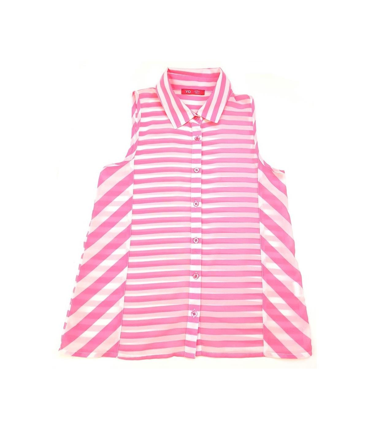 ff4a873ae1 Pink csíkos felső (140) - Ruhacuka