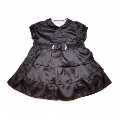 05aac89444 Masnis fekete szatén ruha (80)