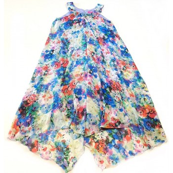 Romantikus, virágos ruha (140)