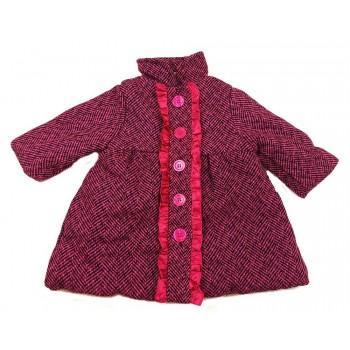 Pink fodros gyapjú kabát (80)