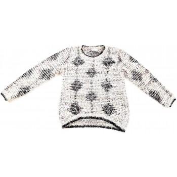 Csillogó bézs pulóver (146)