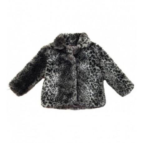 Next fekete párducmintás kabát (104) RUHÁCSKA Webáruház