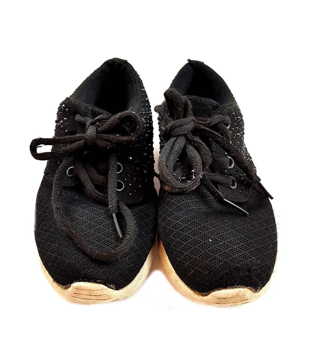 Fekete strasszos sportcipő (28-29) - Ruhacuka bc929345d8