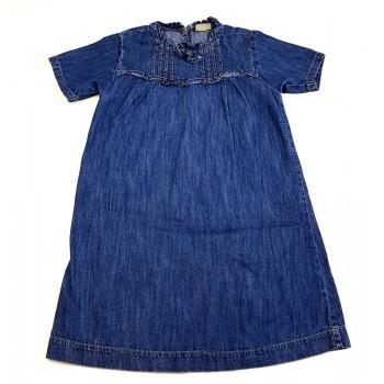 Fodros kék farmerruha (134)