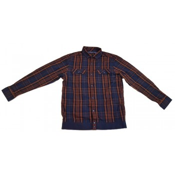 Barna-kék kockás ing (134)