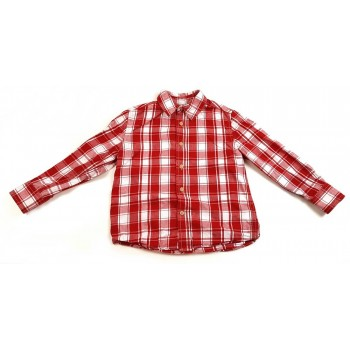 Piros-fehér kockás ing (128)