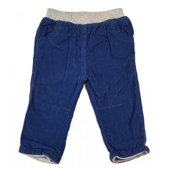 Bélelt kék mikrokord nadrág (74)