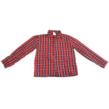 Tépőzáras piros kockás ing (128)