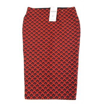 Fekete-piros ceruzaszoknya (158-164)