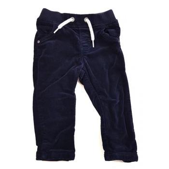 Bélelt sötétkék skinny nadrág (74)