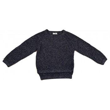 Csillogós sötétkék pulóver (122)