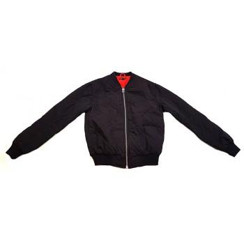 Steppelt fekete kabát (158-164)