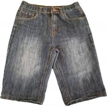 Koptatott farmer rövidnadrág (158)