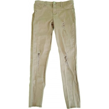 Szaggatott zöld skinny nadrág (152)