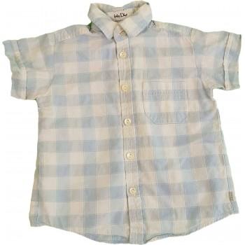 Kék-fehér kockás ing (80-86)
