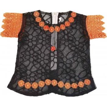 Hálós narancs-fekete alkalmi felső (110-116)
