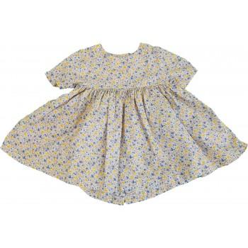Virágos kék-sárga ruhácska (74)